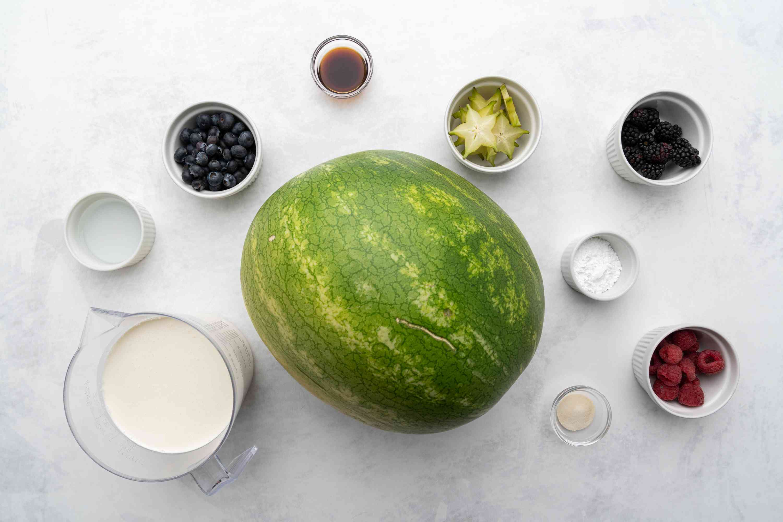Watermelon Cake ingredients