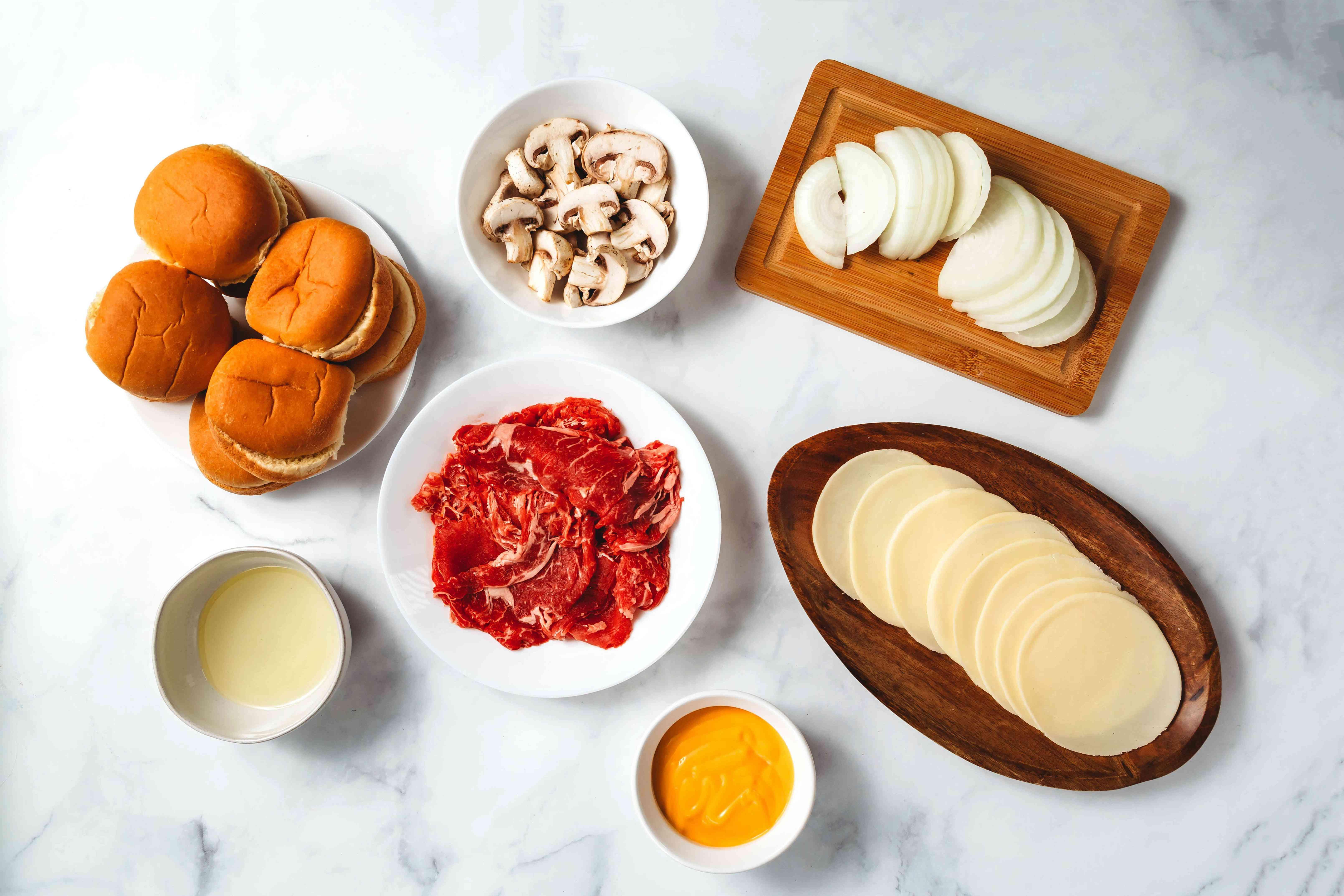 cheesesteak sliders ingredients