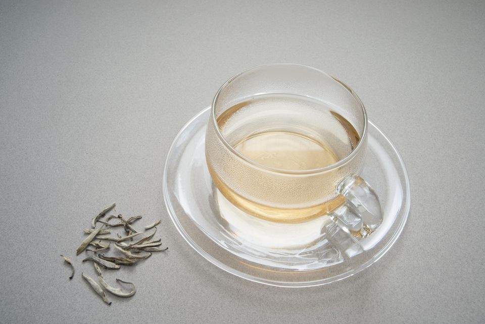 A cup of silver needle tea