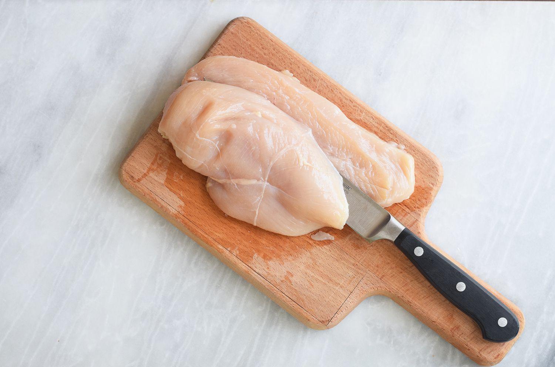 split chicken in half