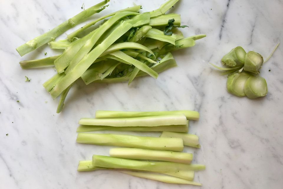 Peeling Broccoli Stems