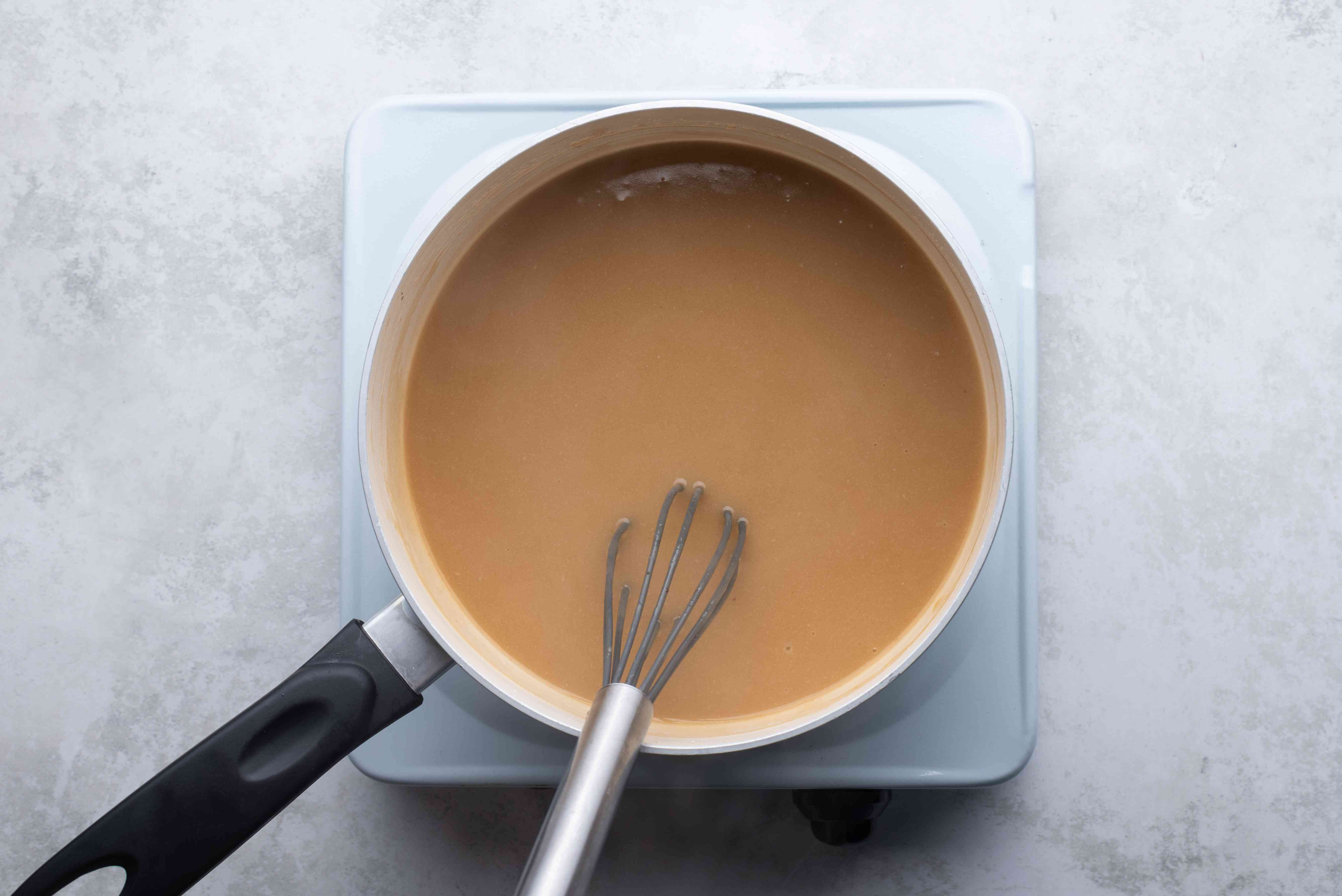 gravy in a saucepan