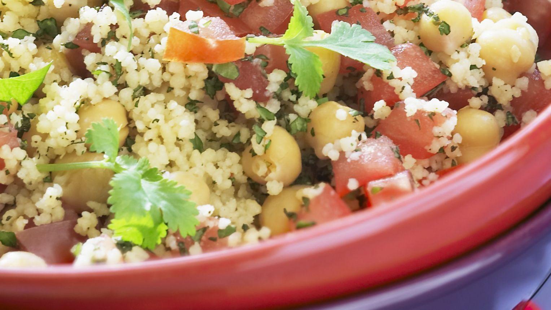 Vegan Couscous Salad With Chickpeas Recipe