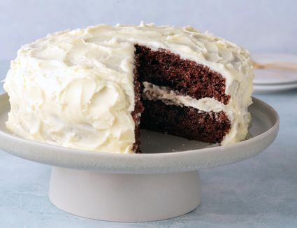 Red Devil's Food Cake With Vanilla Frosting