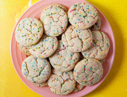 Dairy Free and Egg Free Funfetti Cookies