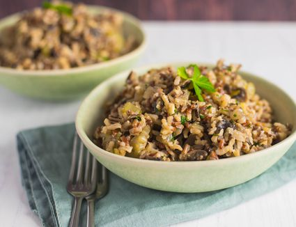 Vegetarian wild rice and mushroom pilaf