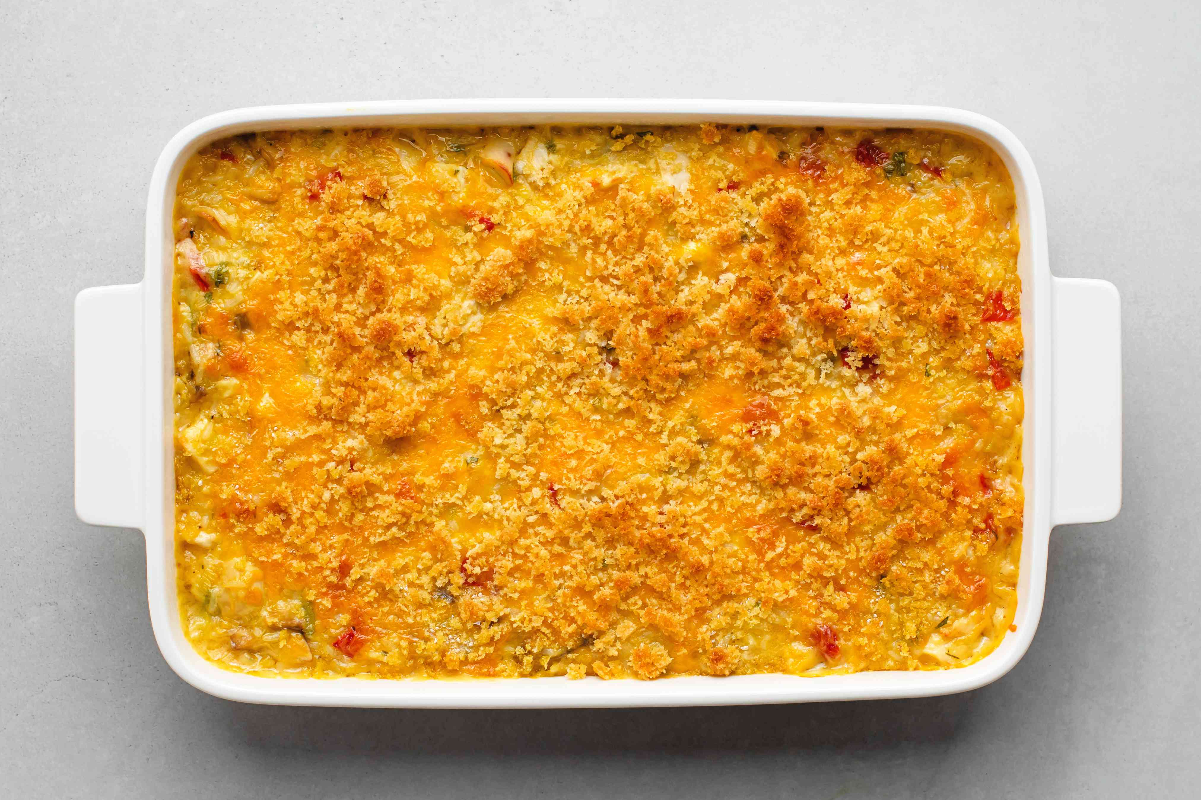 baked Cheddar Chicken and Rice Casserole