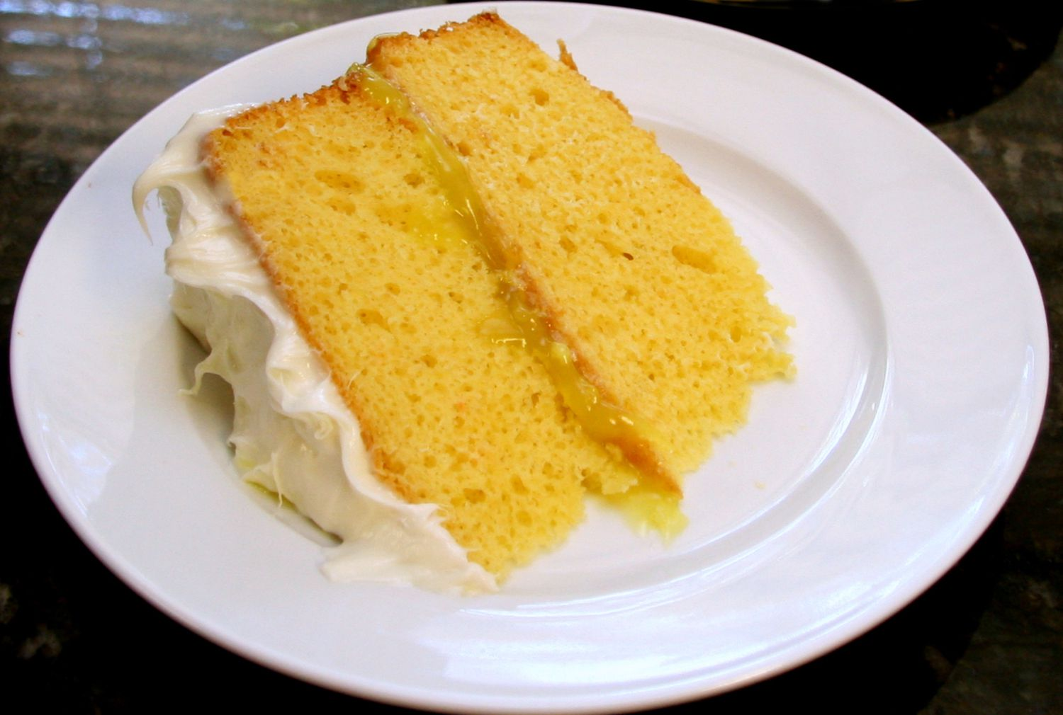 Lemon Layer Cake With Lemon Curd Filling and Cream Cheese Frosting