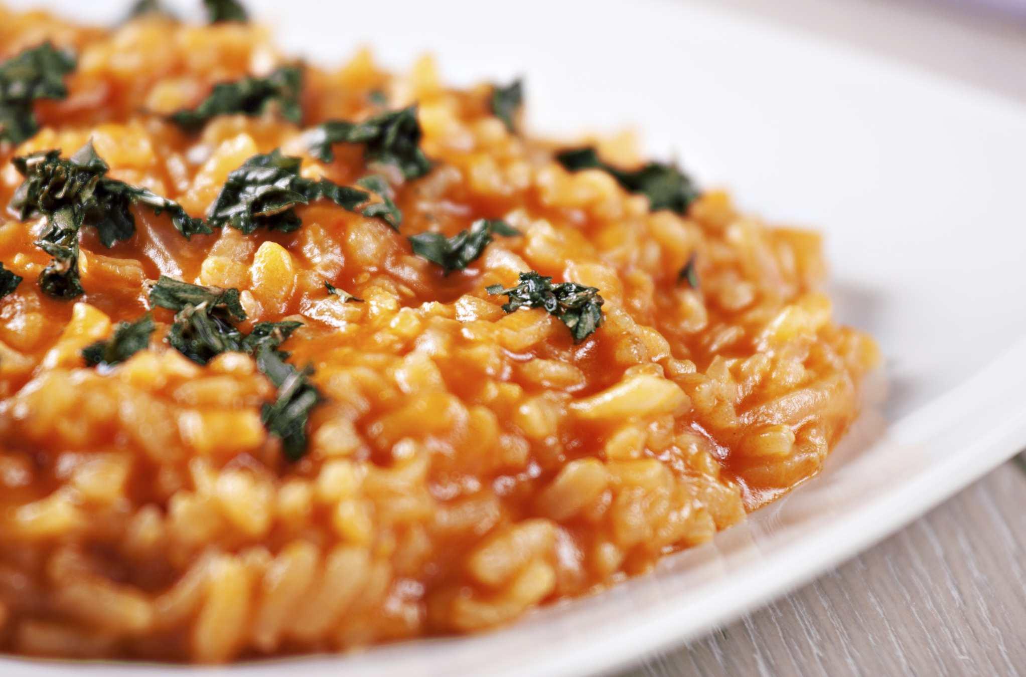 Sun-dried tomato risotto