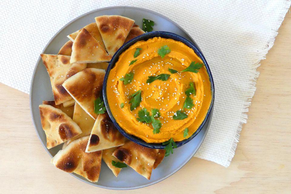 Humus de zanahoria