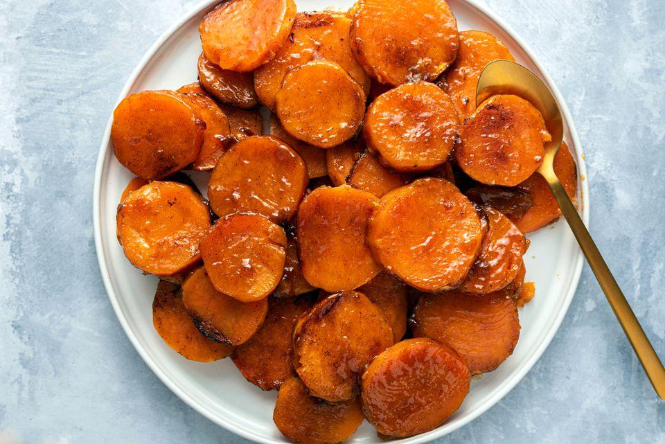 Crockpot Caramel Glazed Sweet Potatoes