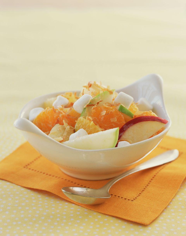 Ambrosia Fruit Salad in bowl