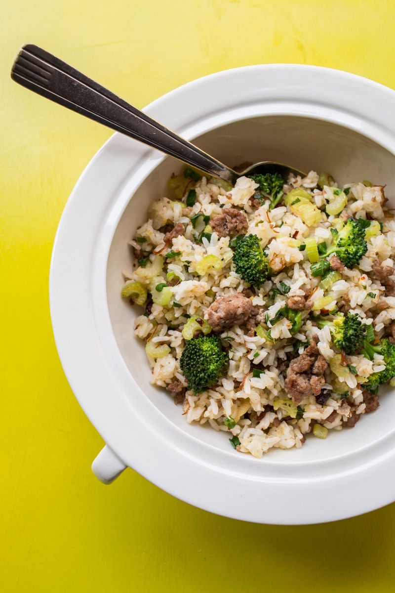 Stir Fried Rice with Pork and XO Sauce