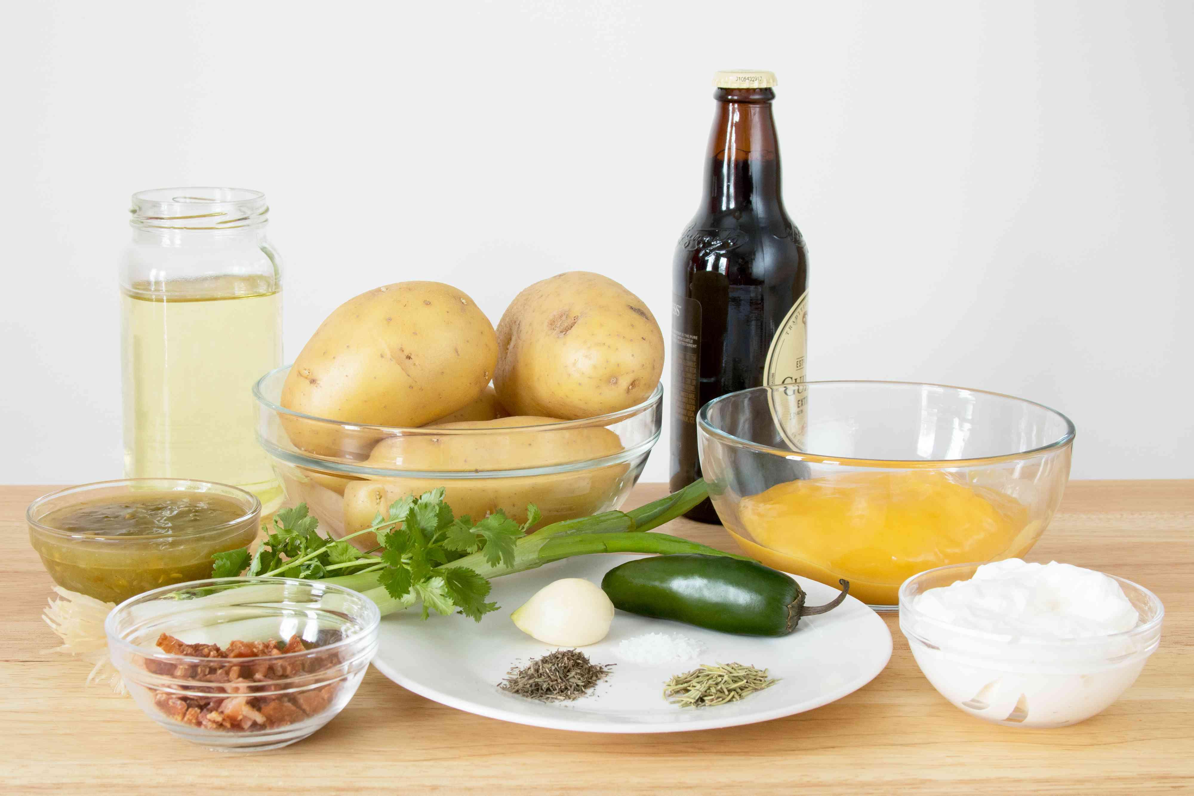 Ingredients for Irish Nachos
