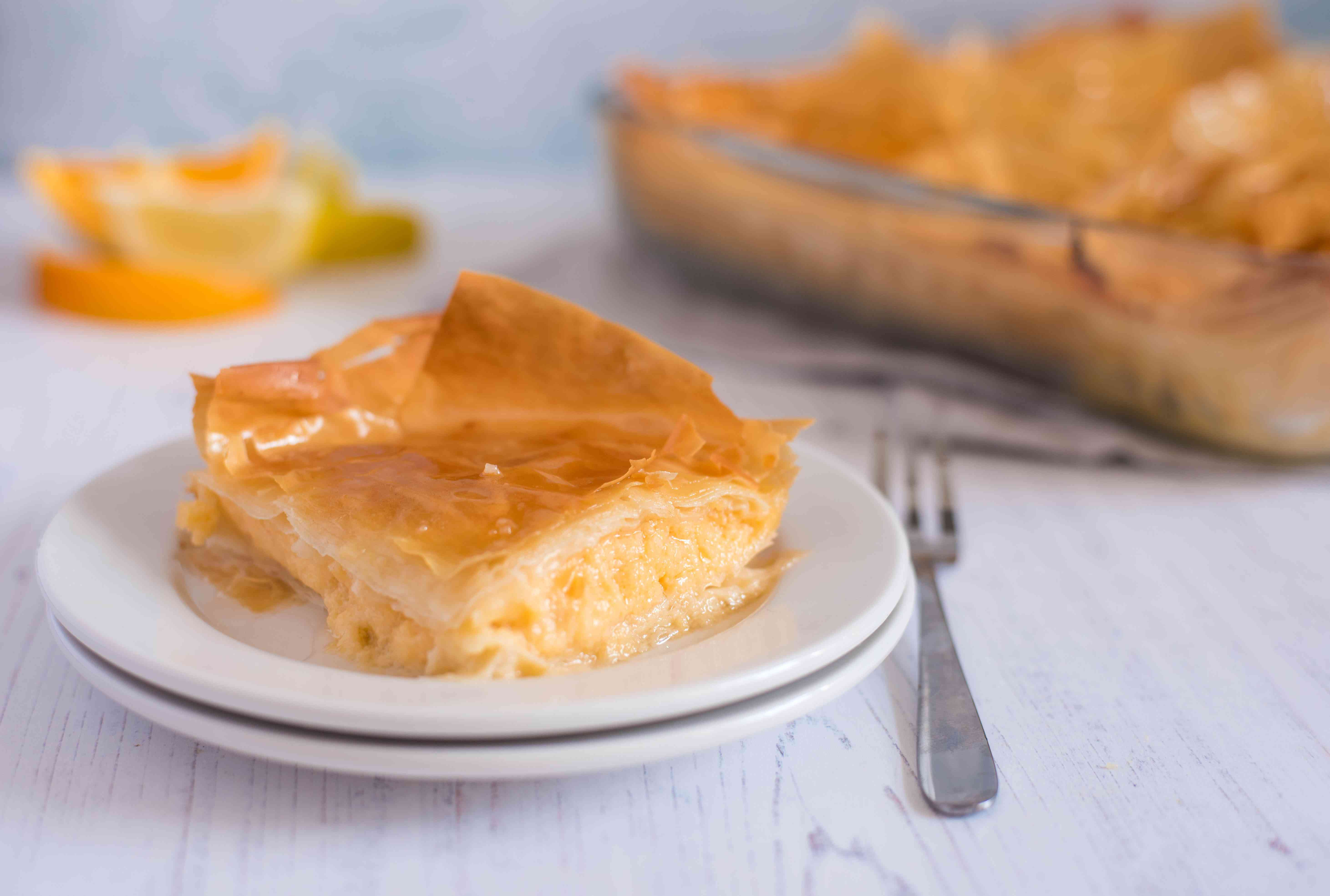 Custard pie with phyllo recipe