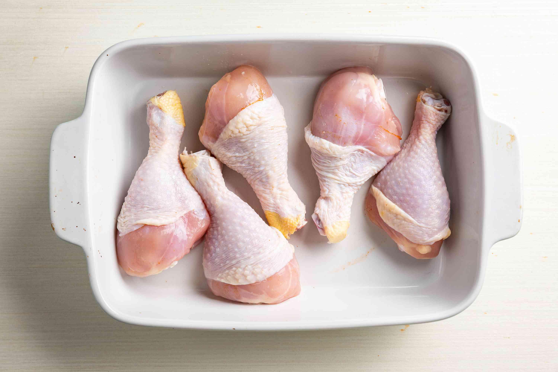chicken in a baking dish
