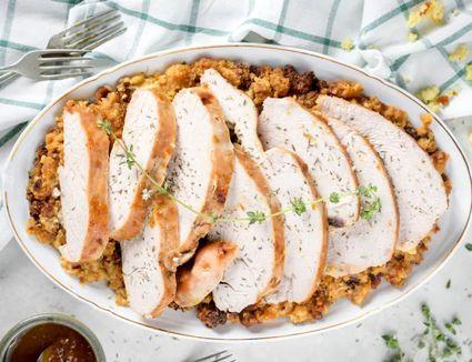 Crockpot Maple-Glazed Turkey Breast