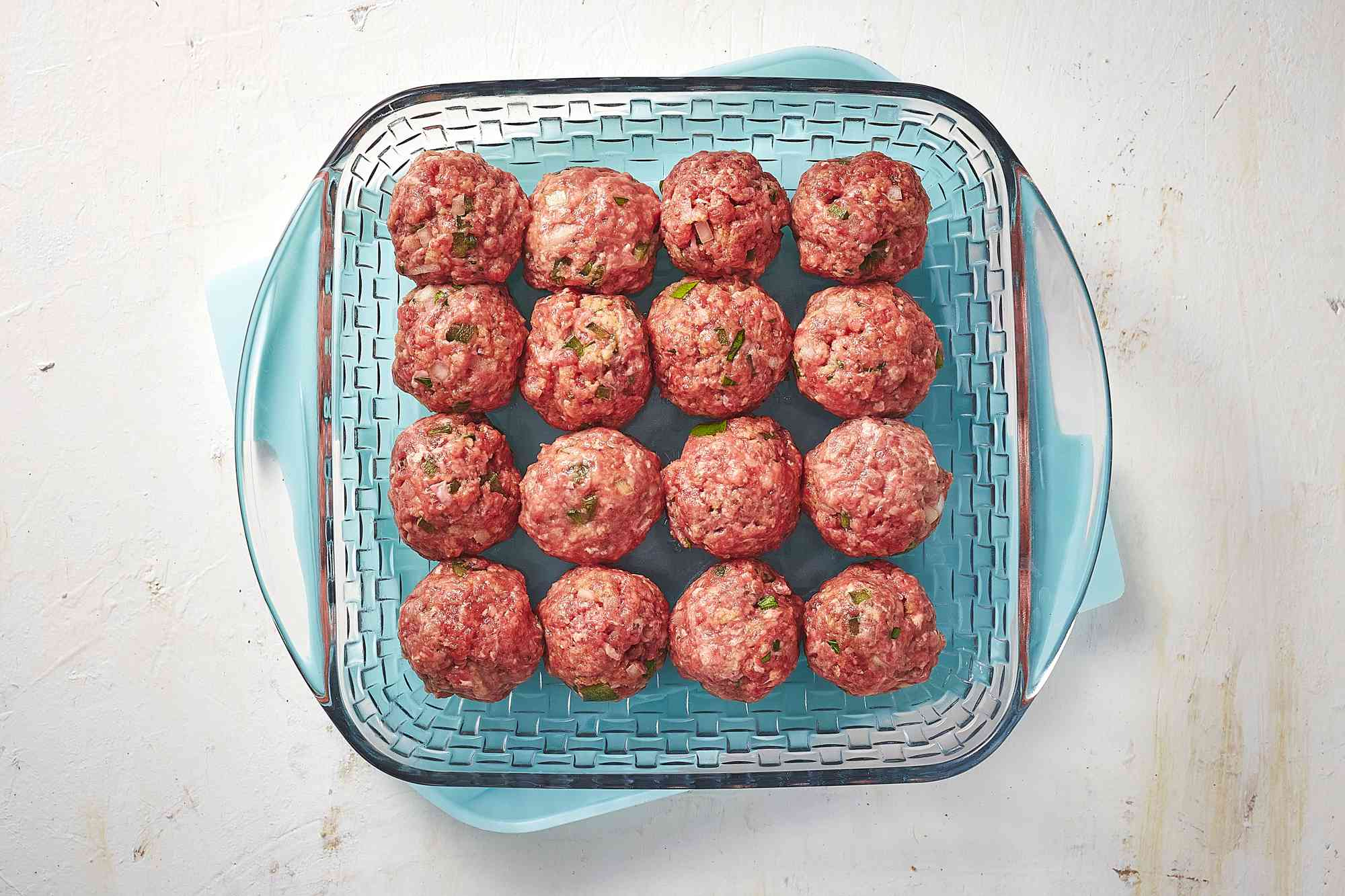 meatballs in a glass container