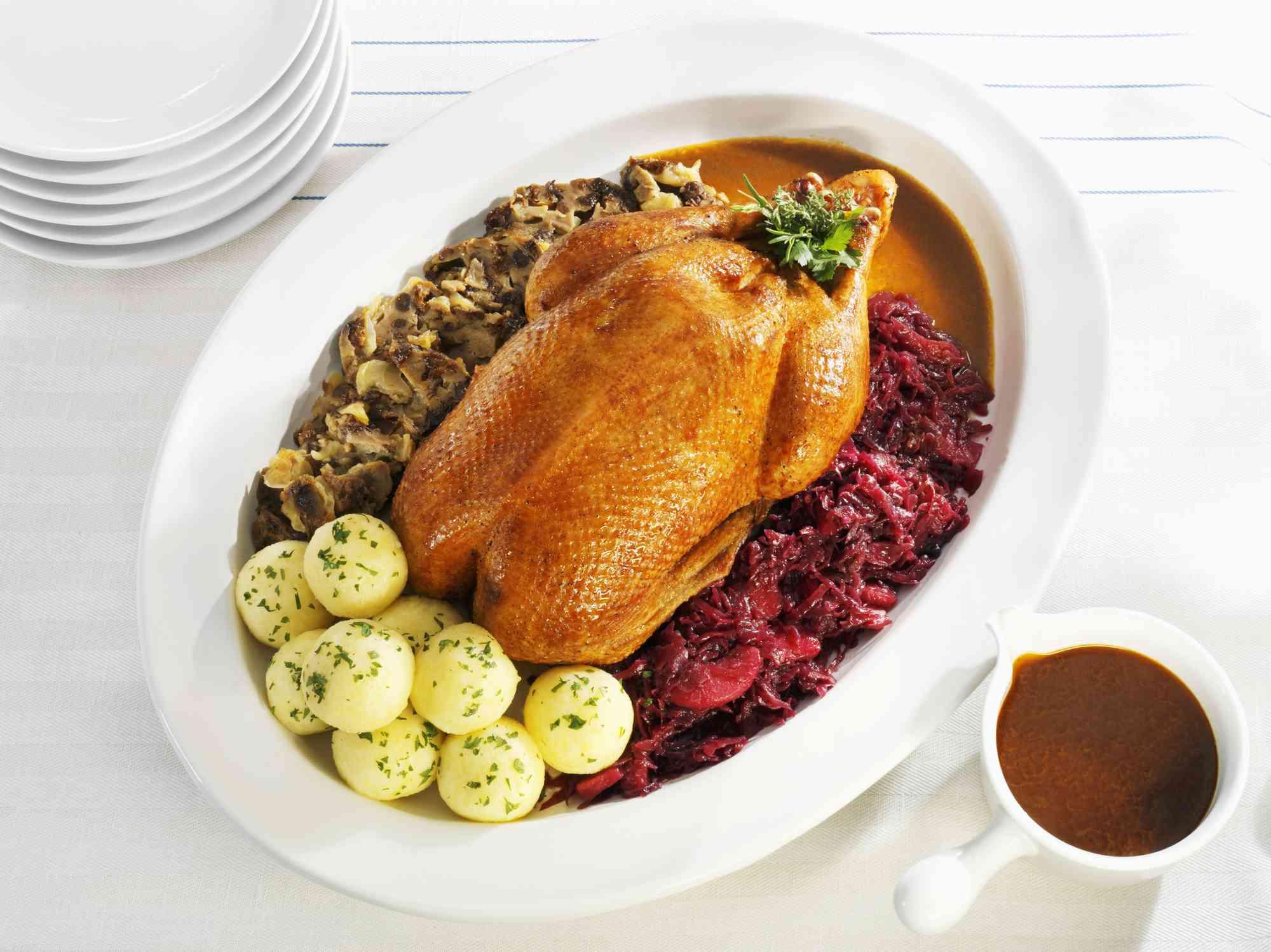 Recipe for Roast Christmas Goose