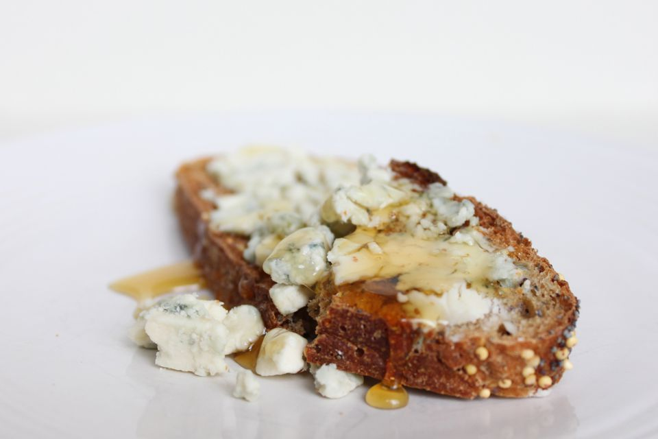 Blue Cheese and Honey Toasts