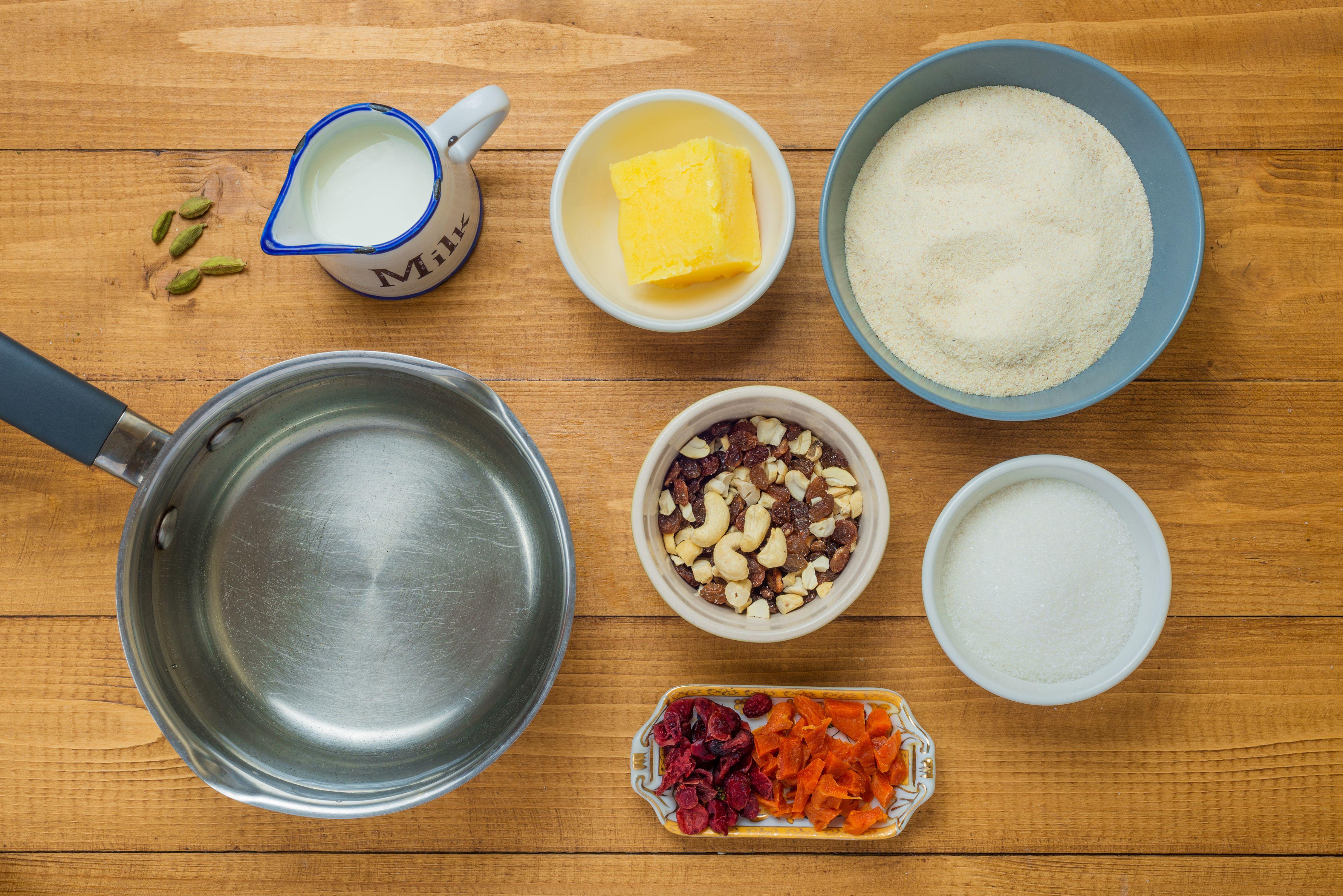 Indian Semolina ingredients
