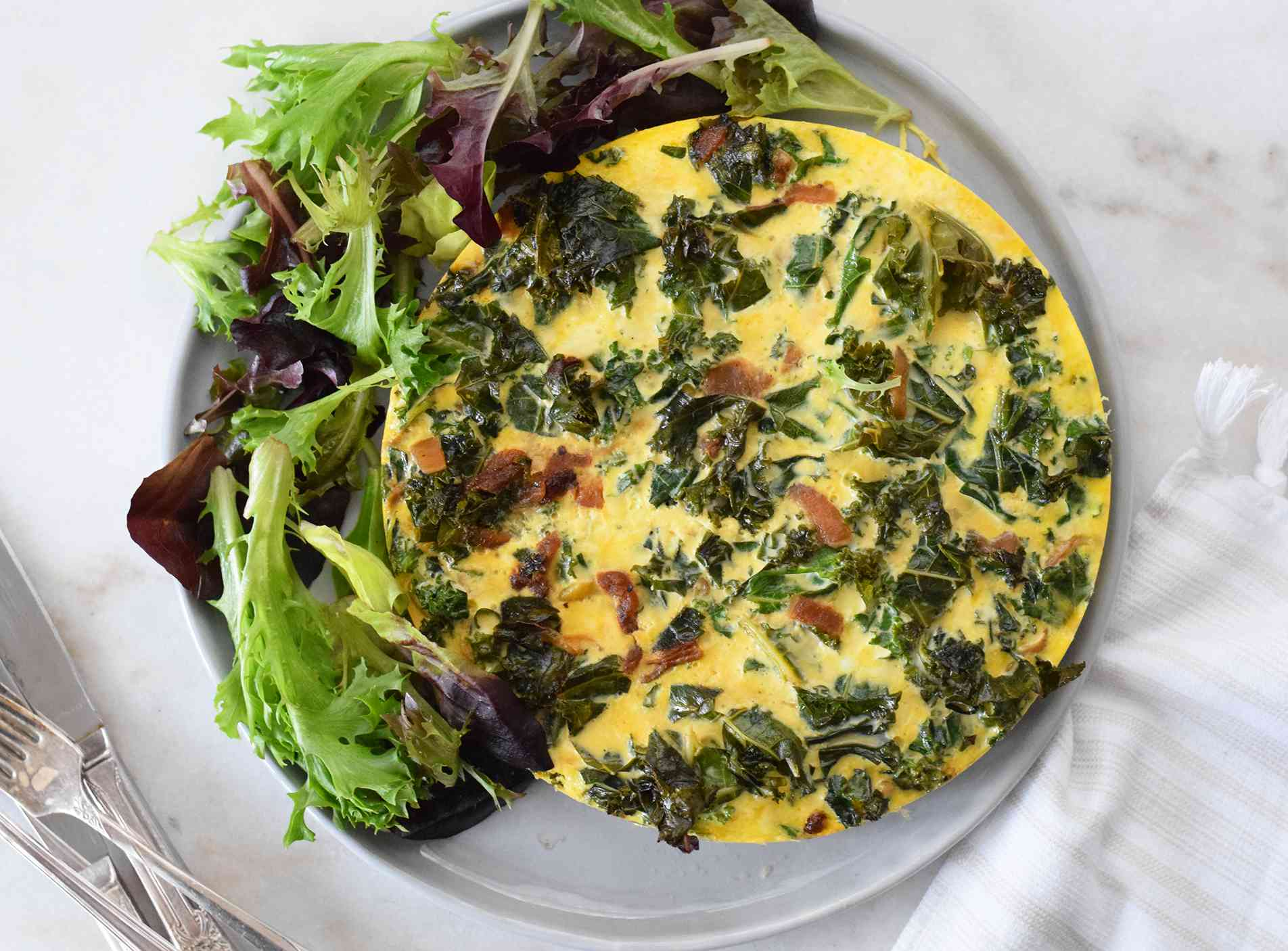 instant pot quiche served with a salad