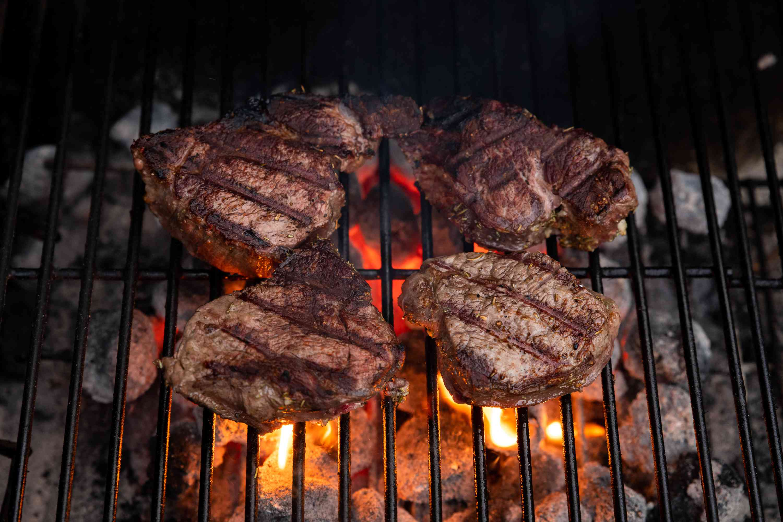 Place the steaks on the grill