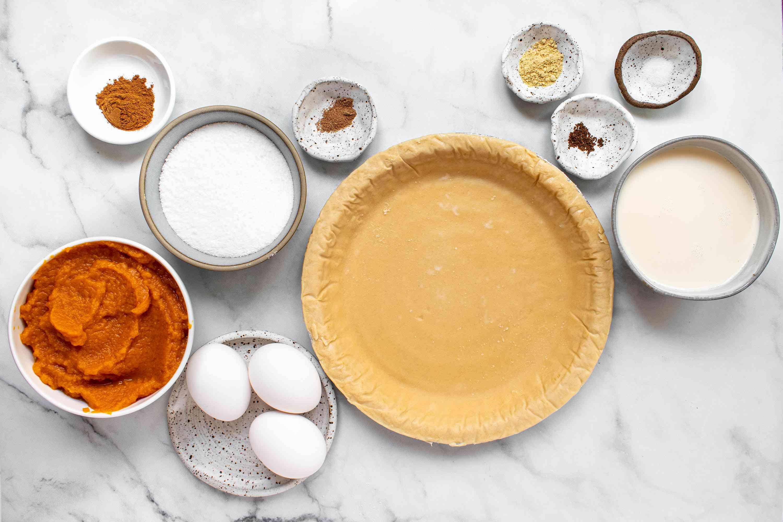 Sugar-Free Pumpkin Pie ingredients