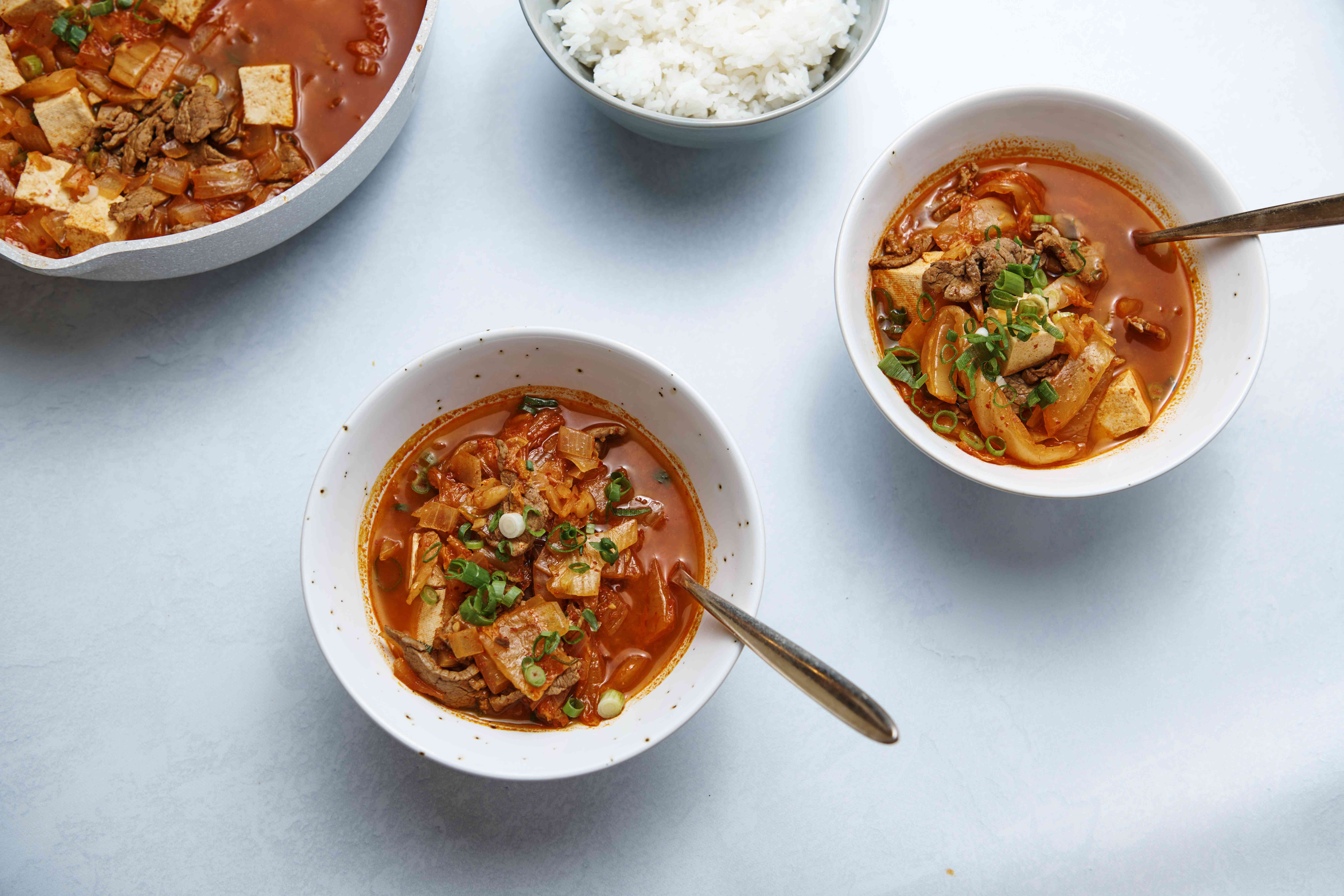 Serve stew with white rice