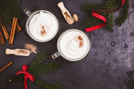 white christmas cocktail recipe eggnog with southern comfort