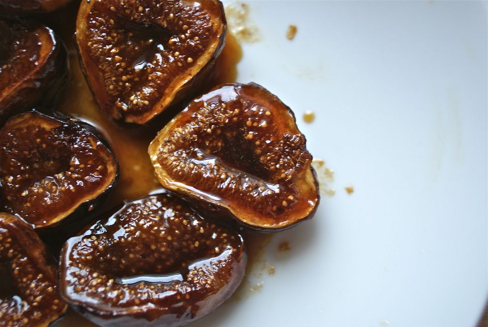 Homemade figs fried in honey