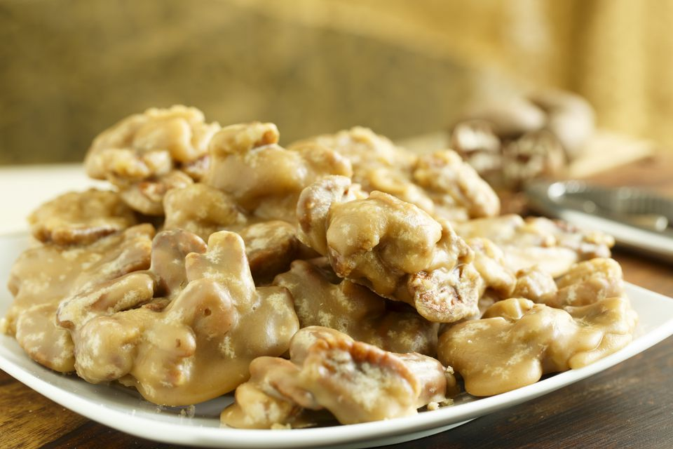 New Orleans Pecan Pralines on Plate