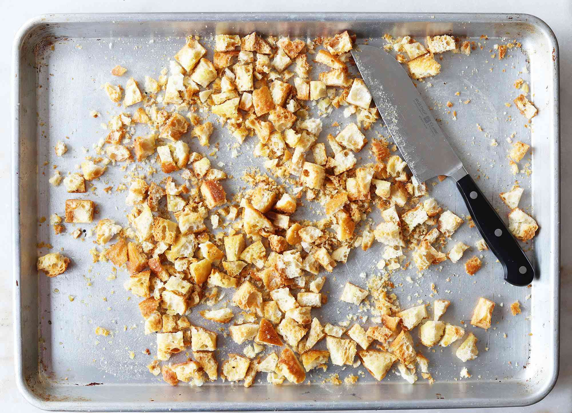 chopped croutons