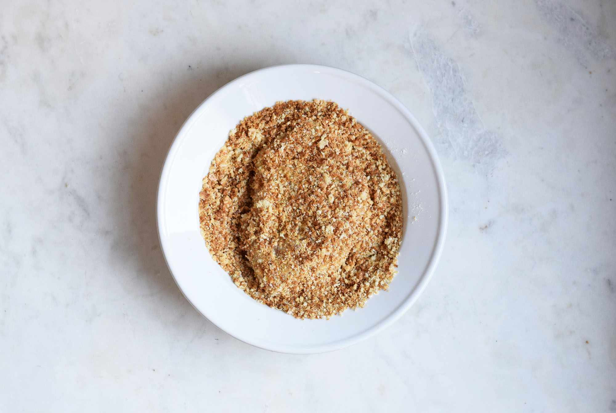 chicken breasts dipped in breadcrumbs