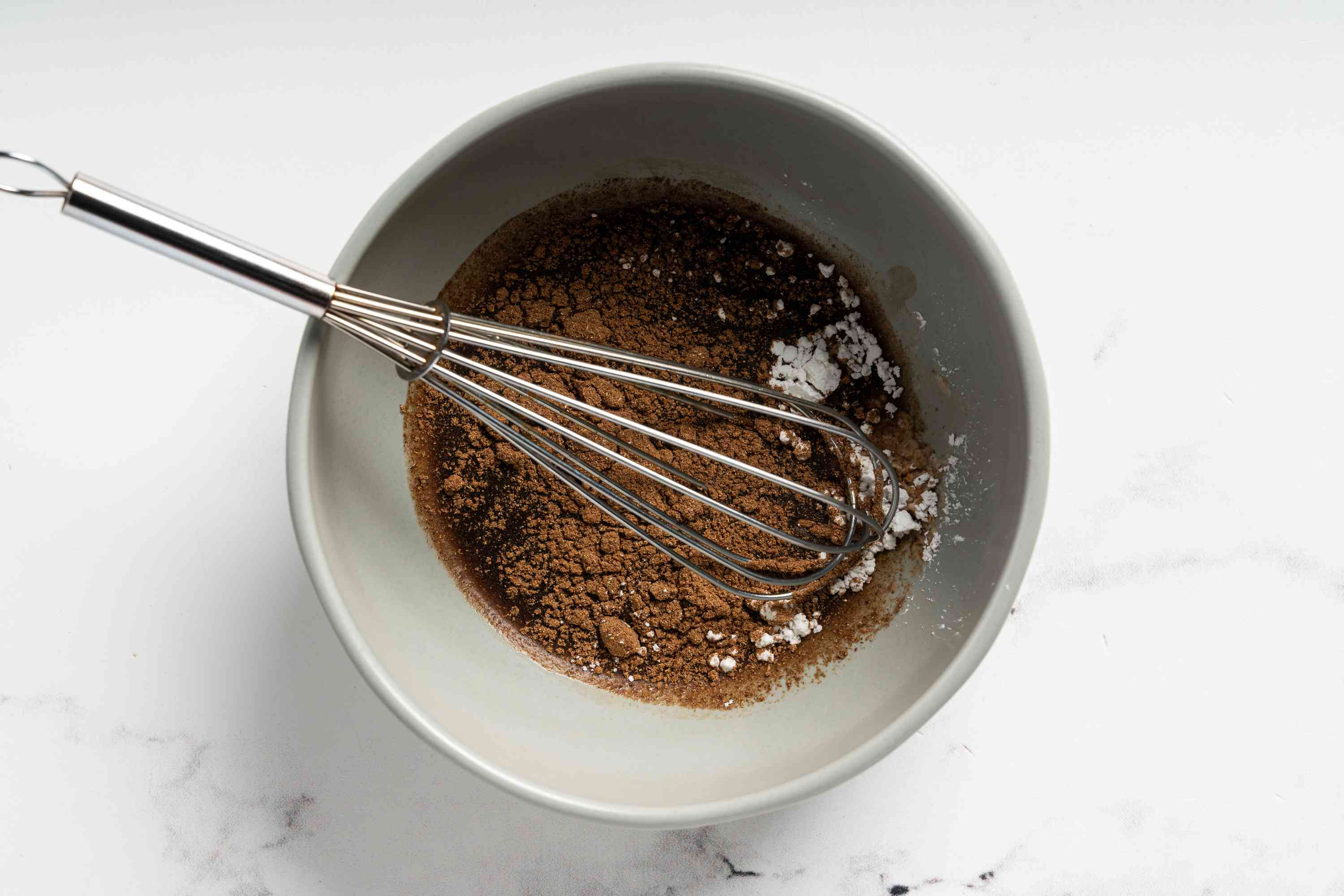 combine soy sauce, sherry, five-spice powder, and cornstarch in a bowl