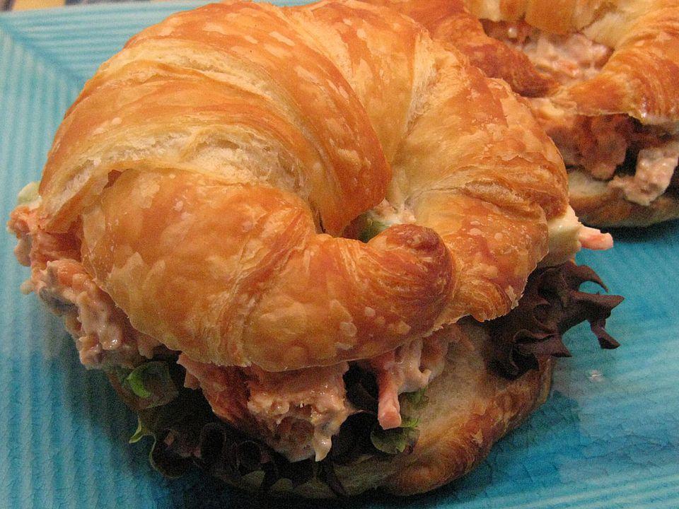 Salmon Croissant Sandwiches