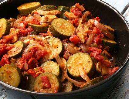 Zucchini With Tomatoes, Onions, and Peppers