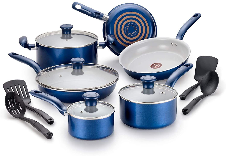 T-Fal Initiatives Cookware Blue Option