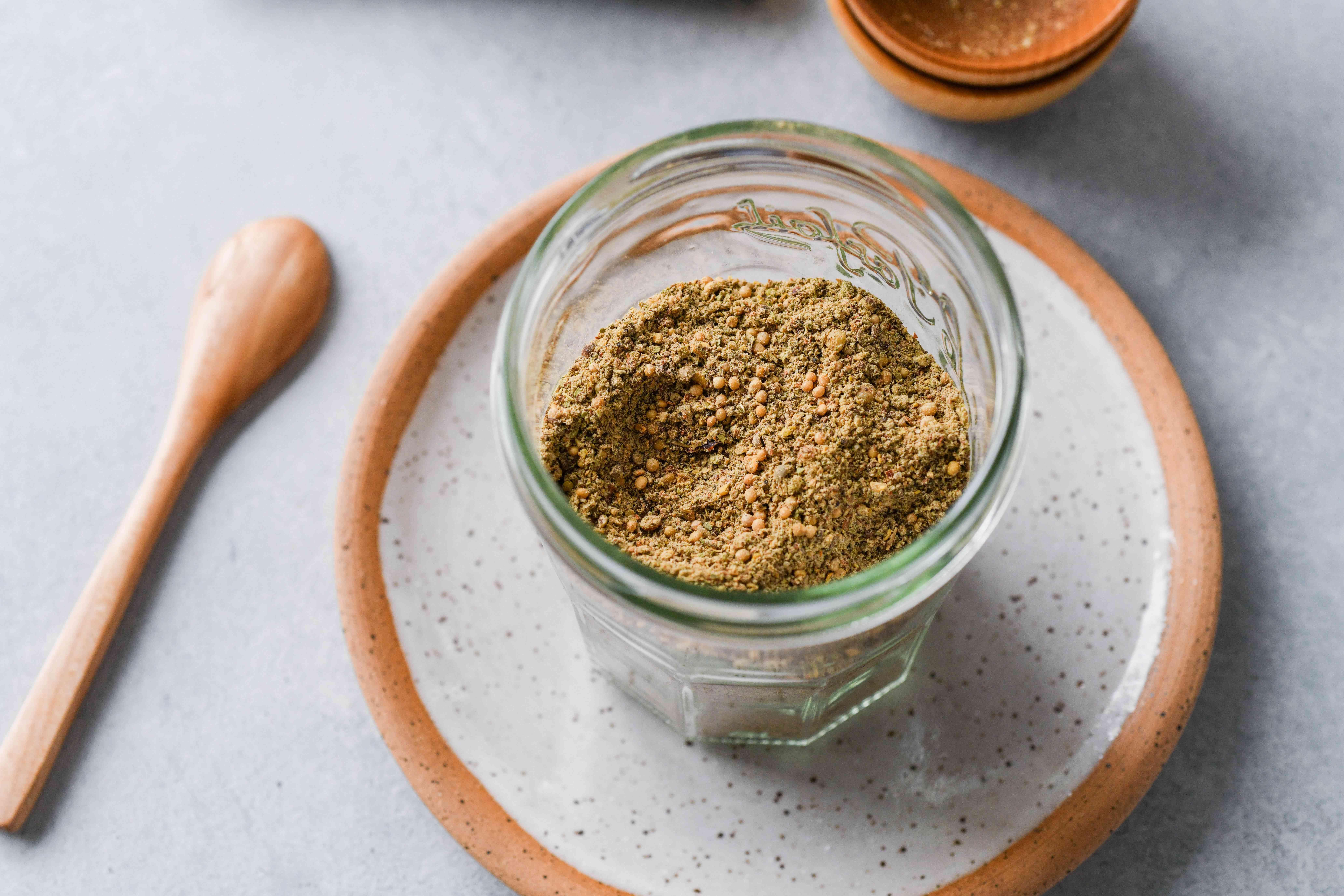 Crab Boil Spice Mix in a jar