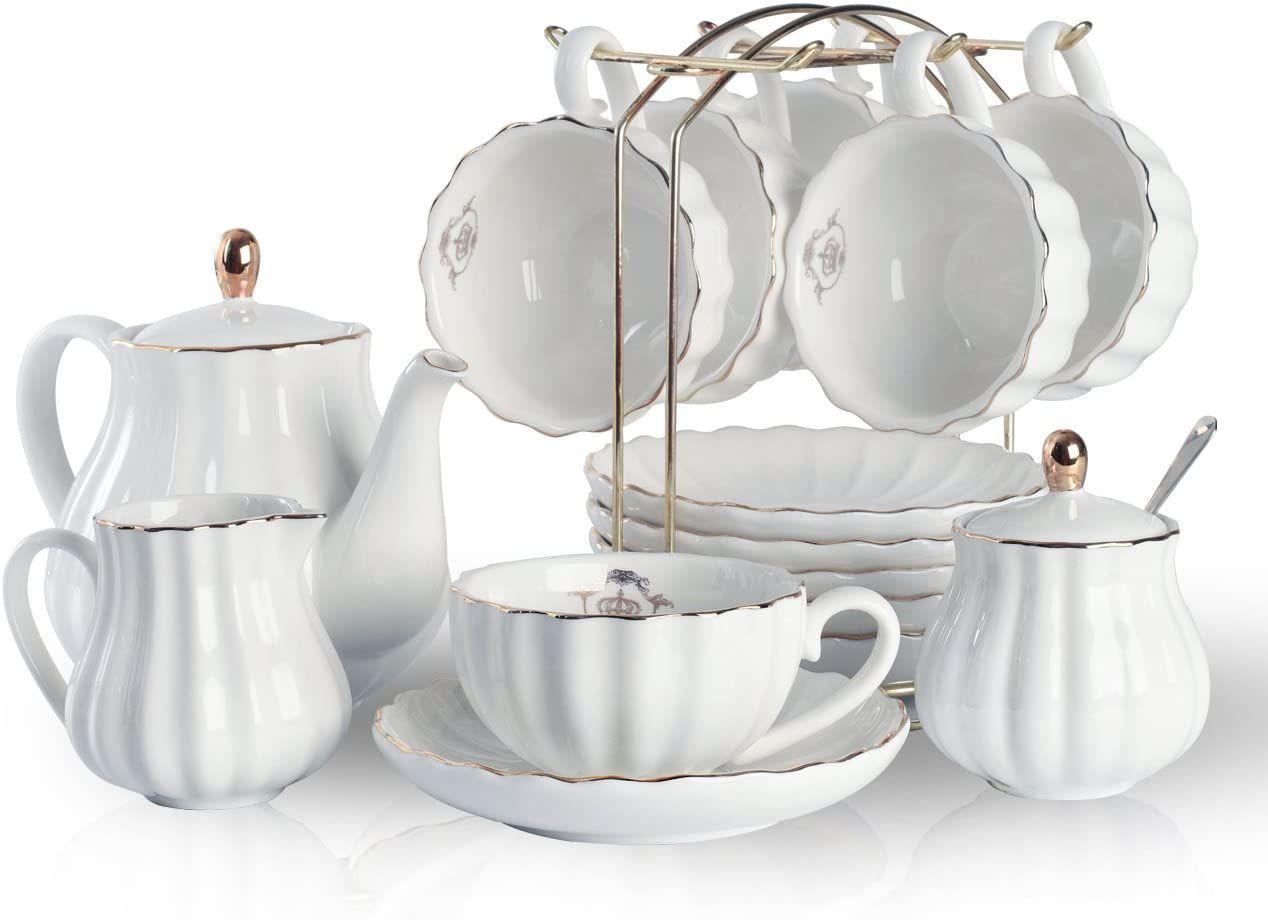 Pukka Home 22-Piece British Royal Series Tea Set