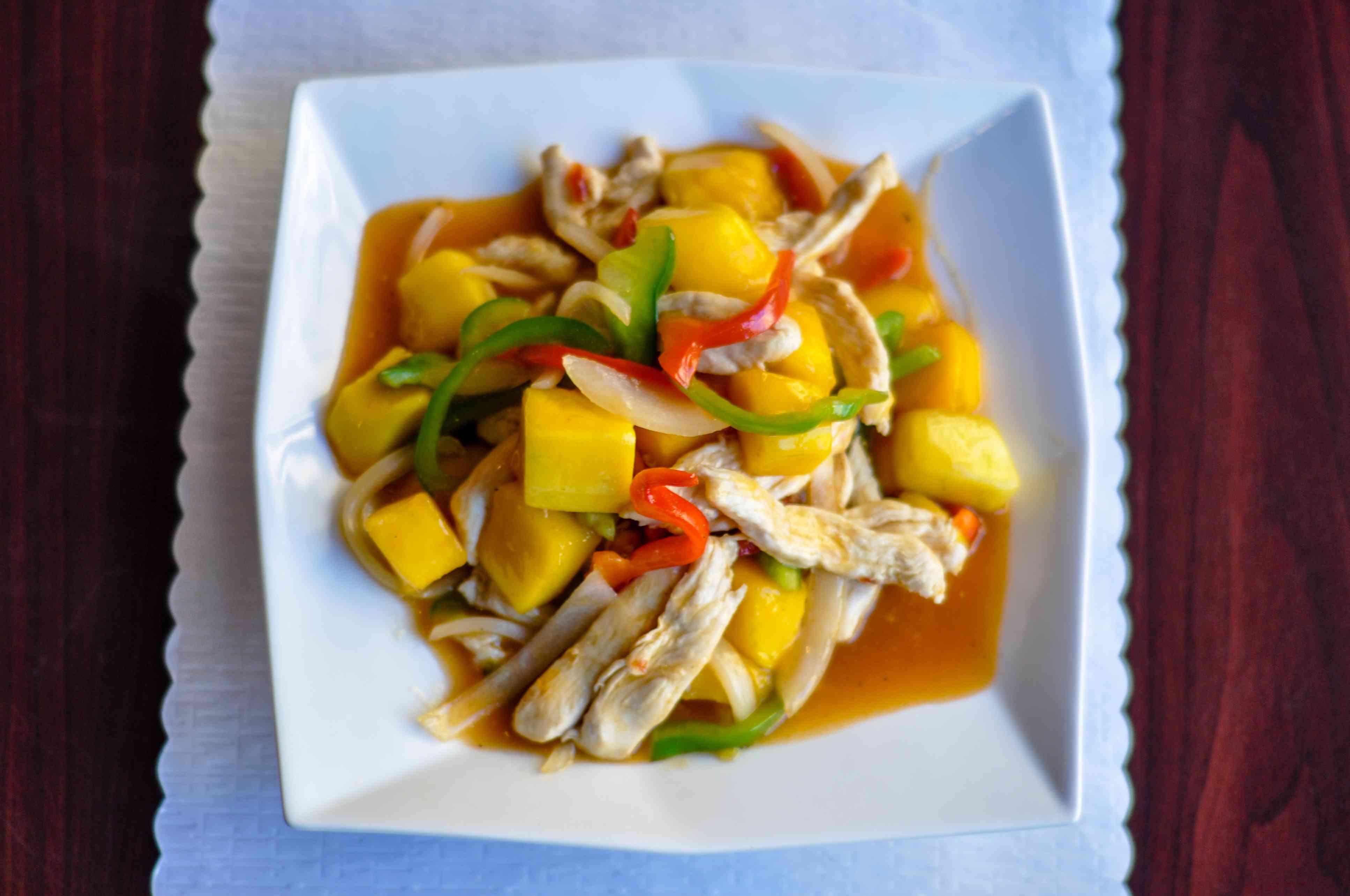 Mango chicken stir-fry