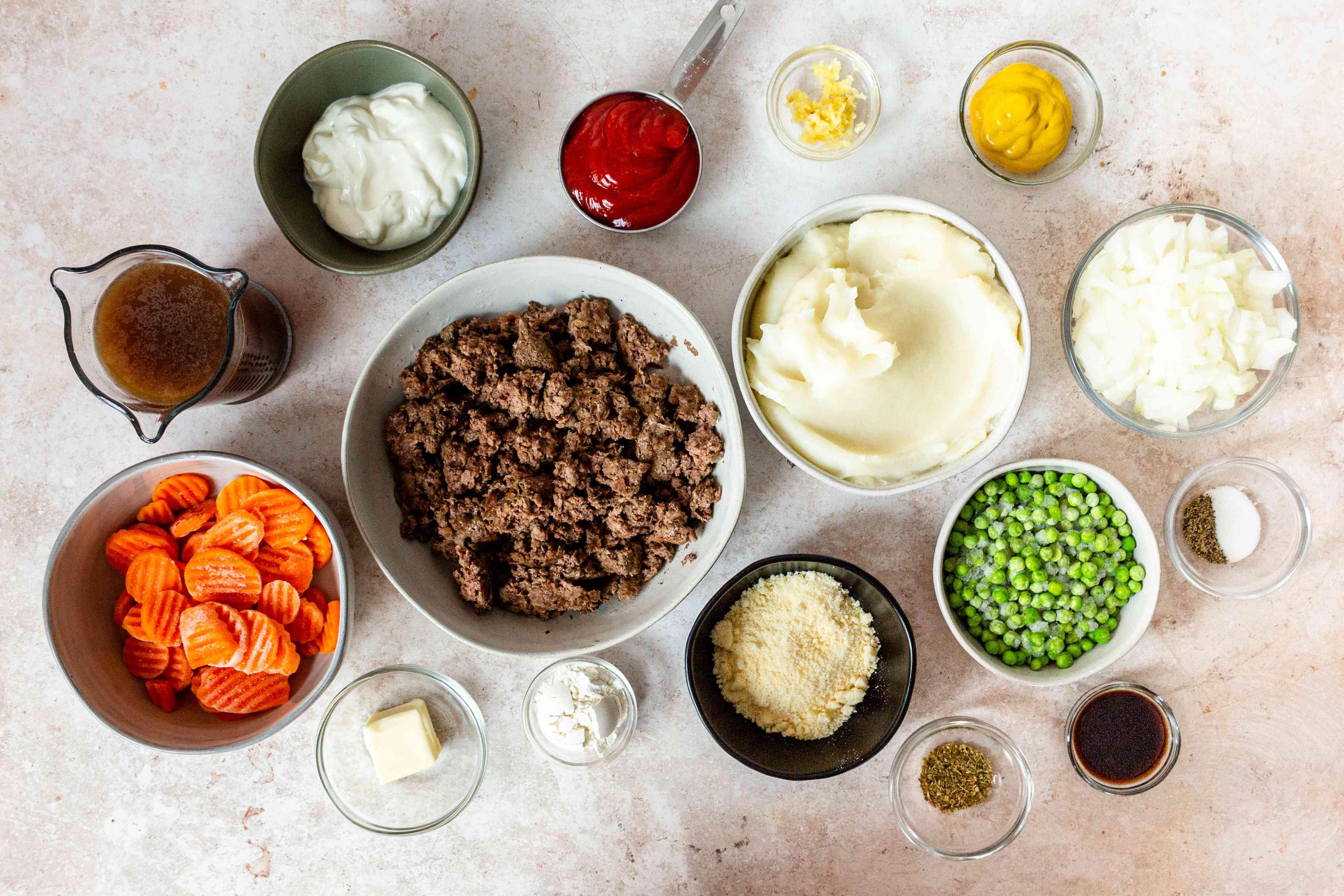 Meatloaf Shepherd's Pie ingredients