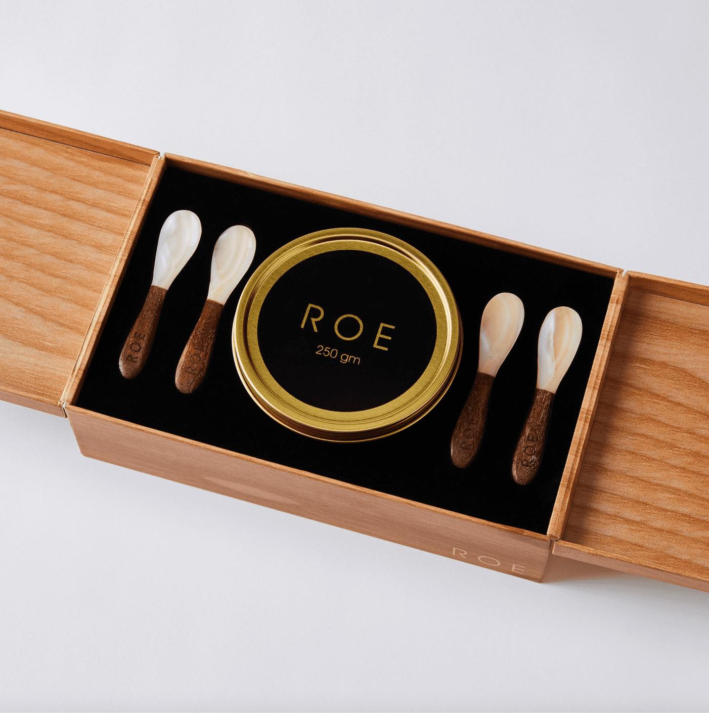 Roe White Sturgeon Caviar Gift Set
