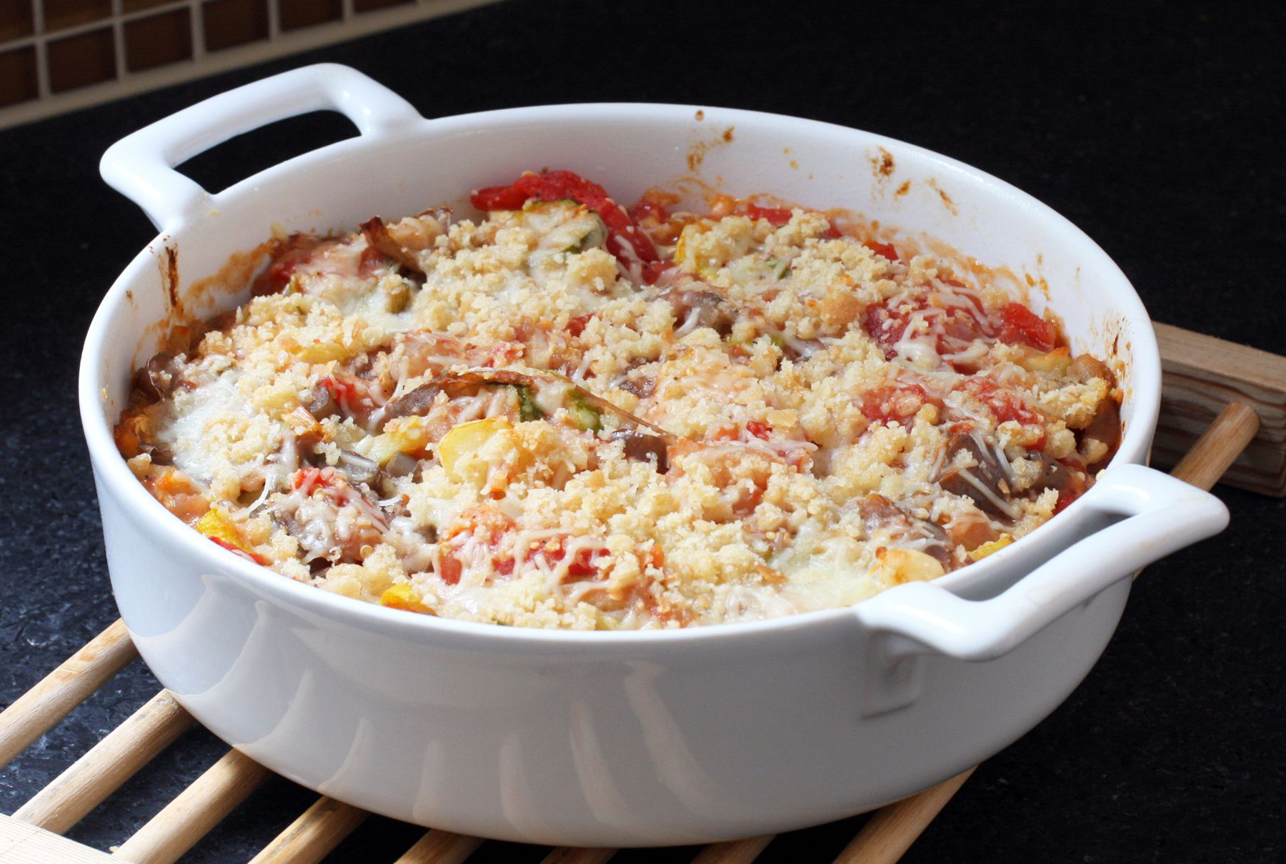Family-Pleasing Eggplant and Zucchini Casserole With Cheddar Cheese