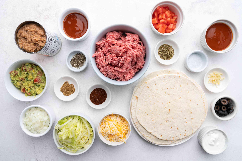Beef and Bean Burritos ingredients