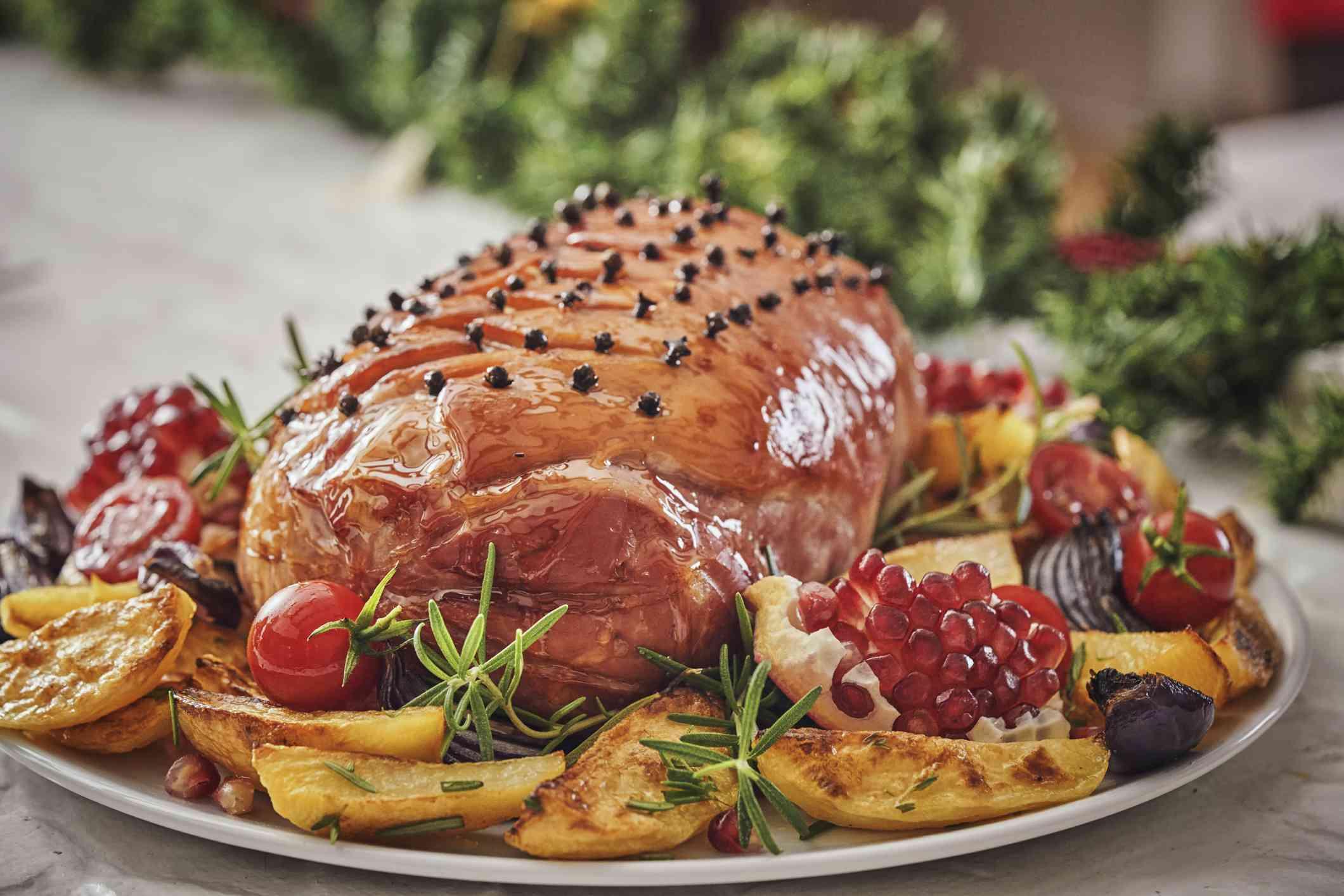 Glazed Holiday Ham with Cloves