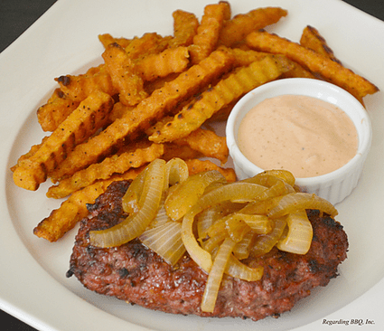 Grilled Hamburger Steaks and Onions Recipe