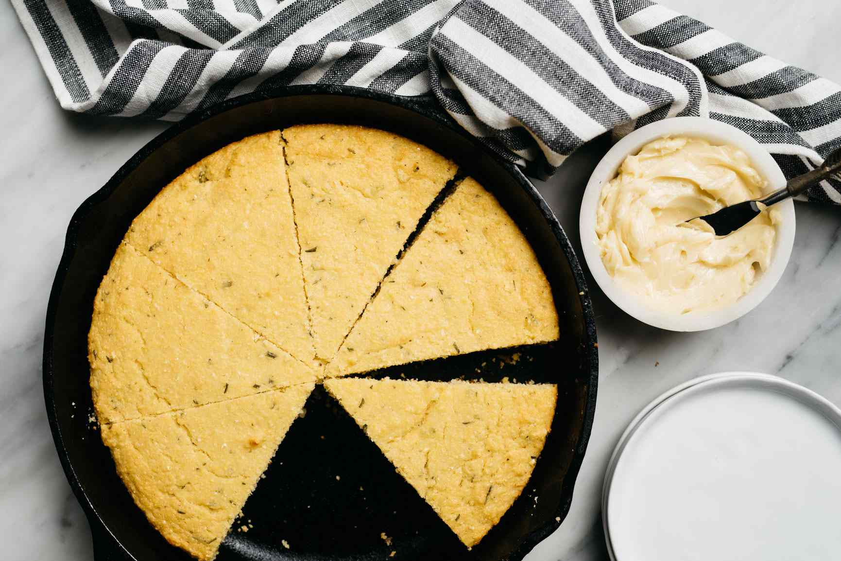 Cornbread and whipped butter