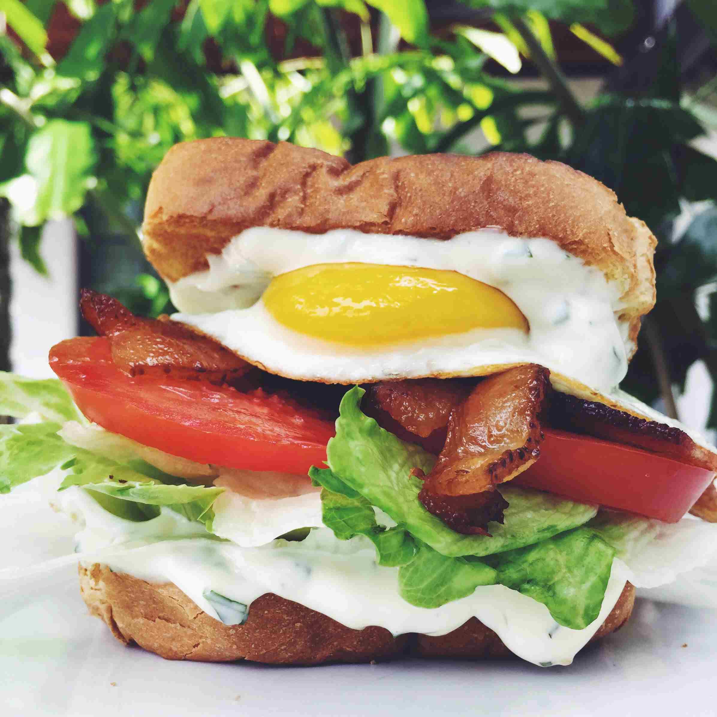 BLTE - Bacon, Lettuce, Tomato & Egg Sandwich
