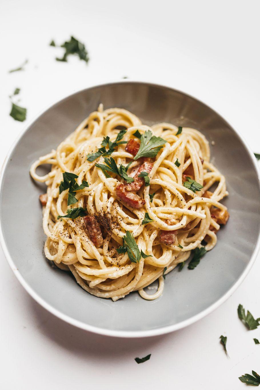 Creamy spaghetti cabonara